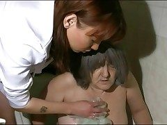 Nurse takes granny be proper of will not hear of bath