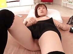 Akie Harada takes massive cum shot on high her nice face