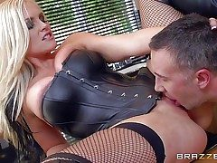 Lengthy haired blonde milf Alena Croft is a sexy dominatrix