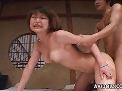 Hard Asian doggystyle humping with creampie